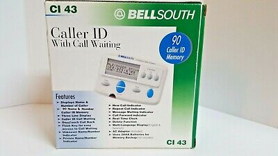Bell South Caller ID with Call Waiting CI 43 with 90 Caller ID Memory NOS IN BOX