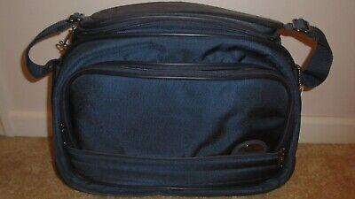 Samsonite Carry-On Shoulder Bag in Blue Nylon w/ Dark Blue Accents.