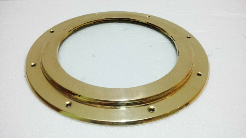 "Porthole ship boat brass window with glass 8.25""inch Wt-1.00Kg"