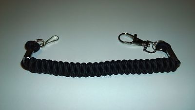 Kevlar Bungee Lanyard For Pager Radio Torches Keys Quick Release Belt Clip New