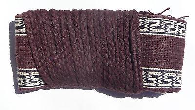 Wushu / Kung-Fu Cotton Belt, Brown w/Cloud Pattern Trim