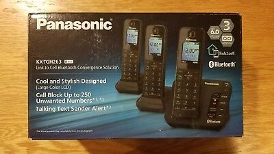 Panasonic KX-TGH263 DECT 6 Phone System With Bluetooth And 3 Handsets (New) ()