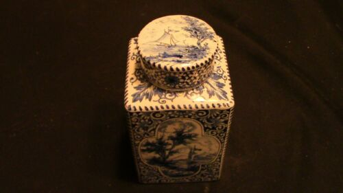 A Dutch Delft Tea Caddy