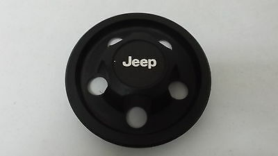 Jeep Wrangler Cherokee Wagoneer OEM Wheel Center Cap Black Finish 5 Screw