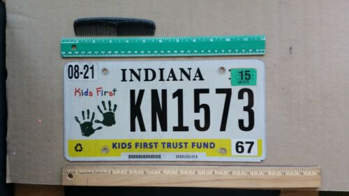 License Plate, Indiana, Kids First Trust Fund, Baby Hands, KN 1573