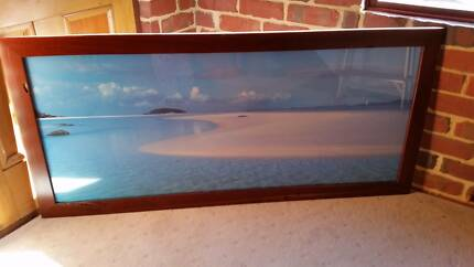 Jarrah framed wall picture