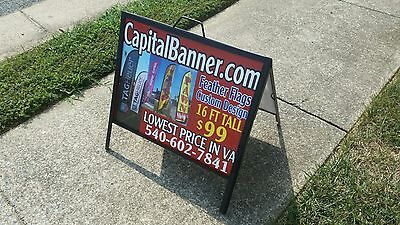 Metal A Frame Sidewalk Sign With 18x24 Inserts - Low Cost Alt To Signicade