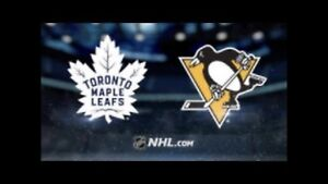 Toronto Maple Leafs vs Pittsburgh  Oct 18 (3 Pairs)