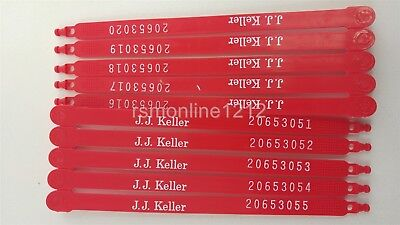 Jj Keller 260 5mp Plastic Flat Trailer Security Seals - 10 Per Package