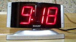 Sharp LED Digital Alarm Clock SPCO33 Snooze, Swivel W/2 LED Numbers Works Great