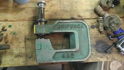 Unitool Unipunch 4a2 Punch C-frame Die Set Press 4 Throat 2 Wide