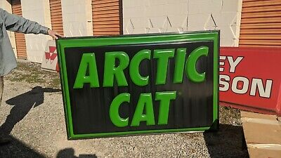 Arctic Cat 2 Sided Light Up Dealer Sign 4' x 6' Good Condition