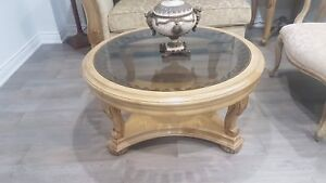 Wood Coffee table and 2 side tables