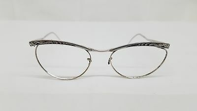 American Optical AO 1/10 12K GF White Gold Vintage Cateye Frames