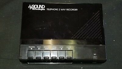 Sound Technologies Telephone 2 Way Recorder Model Tr-200