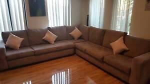 L shaped corner suite