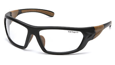 Carhartt Carbondale Safety Glasses With Black Frame And Clear Anti-fog Lens