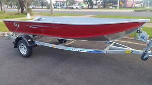 Aluminium Deep-V Bottom 14ft Tinnie with Trailer Brookfield Melton Area Preview