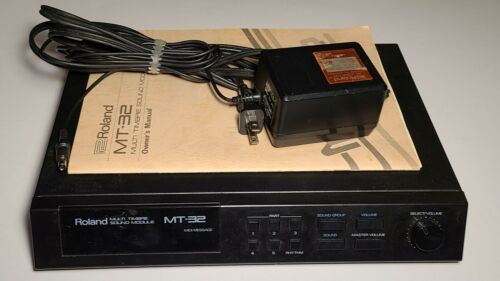 Roland MT-32 Sound Module / Midi Synthesizer w/ AC power & manual * DOS Games *