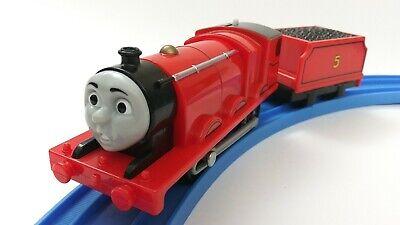 Surprised face James Thomas & friends trackmaster motorized train 20013 Mattel