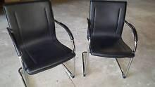 2 x Black & Chrome Office Chairs Carlton Kogarah Area Preview