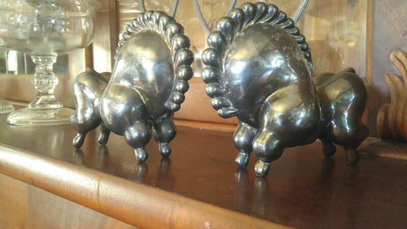 Rare Original Russel Wright Modernist Libbiloo Circus Horse Bookends
