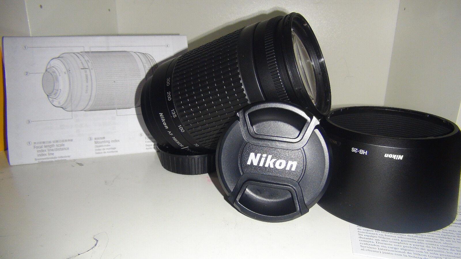 Black Friday Sale 70-300 Nikon Af Zoom Nikkor 70-300mm f/4-5.6G Lens + Hood