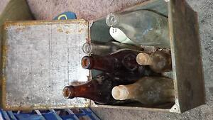 Antique arnotts tin and rare bottles Wallsend Newcastle Area Preview