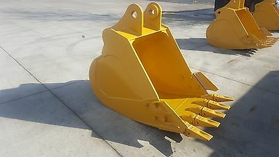 New 36 Caterpillar 318f Heavy Duty Excavator Bucket With Coupler Pins