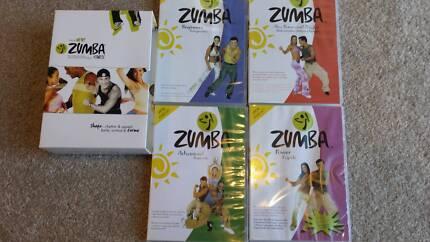 ZUMBA FITNESS 4 DISC DVD BOX SET EXERCISE DANCING ABS BUNS THIGH Belrose Warringah Area Preview