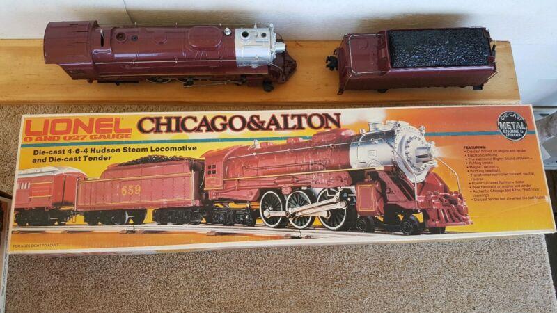 LIONEL 0-027 GAUGE  6-8101 CHICAGO & ALTON HUDSON 4-6-4 & Tender With Box