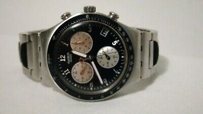 Men's  Swatch chronograph stainless steel watch.