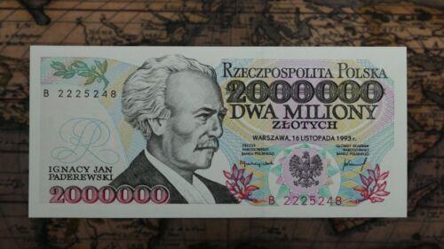 Poland 2 000 000 Zlotych 1993, UNC.