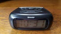 Sharp Digital Travel Alarm Clock Battery Operated