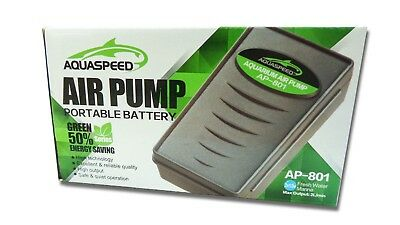 Portable Fish Aquarium Battery Operated Back-up Air Pump Airstone Airline Tubing