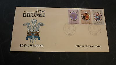 OLD BRUNEI STAMP ISSUE FIRST DAY COVER, 1981 ROYAL WEDDING
