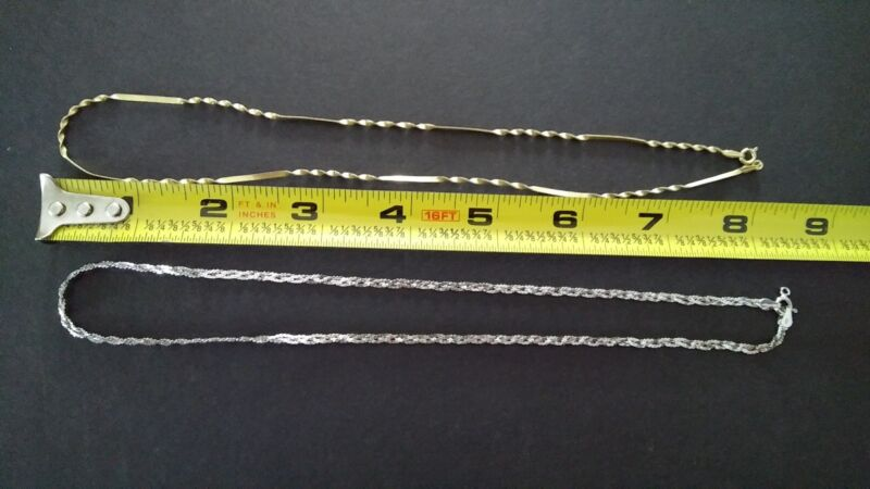 (2) Sterling Silver necklaces