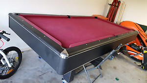 Slate pool table on wheels Redbank Plains Ipswich City Preview