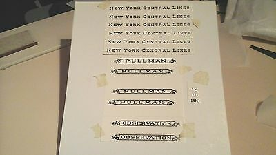 LIONEL PRE-WAR STANDARD SCALE 18-19-190 NYC SERIF BLACK WATERSLIDE DECAL LOOK!