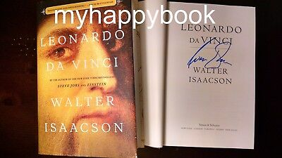 Signed Leonardo Da Vinci By Walter Isaacson  Hardcover  New Autographed