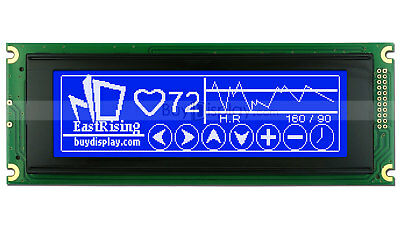 Blue 240x64 Graphic Lcd Module Display Lcm Wra6963t6963 Controller Wtutorial