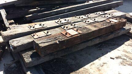 Long Feature Hardwood Railway Sleepers 3m -5m