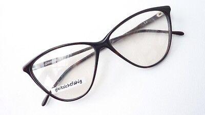 Extreme Cateye Brille Katzenaugen dunkel streng Damenfassungen Frauen Gr. M