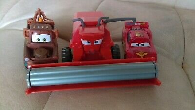 Disney Pixar Cars Diecast Rare Lot Frank The Combine Mater Lightning McQueen