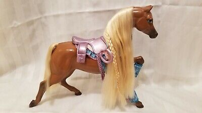 1991 STAR STEPPER Barbie Horse Brown With Blonde Mane Vintage Used Rare Retired