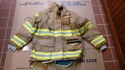Quaker Firefighters Jacket Turnout Bunker Gear Fireman Sz 40-2834-31