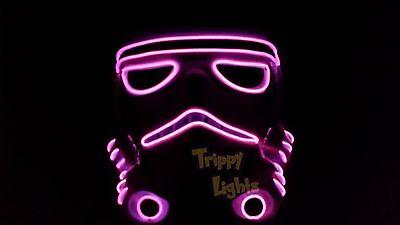 Star Wars StormTrooper The Last Jedi  Rave Halloween Costume Handmade PINK MASK!