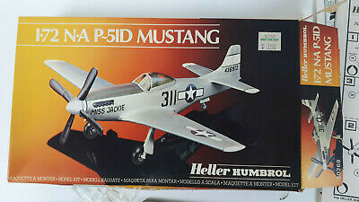 Heller Humbrol 1:72 N.A P-51D Mustang Aircraft Model Kit 80268