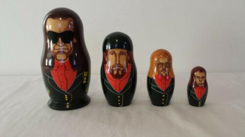 U2 Rock Band 1993 St. Petersbourg Russia Nesting Dolls - USA Seller