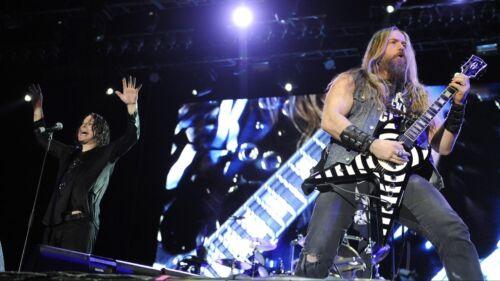 Zakk Wylde! Ozzy Osbourne! BLS 8x10 Photo Black Label Society guitar